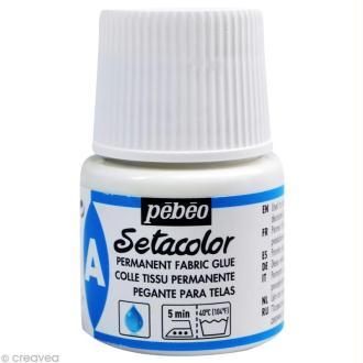 Auxiliaire peinture textile - Setacolor - Colle tissu permanente - 45 ml