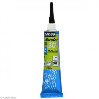 Peinture tissu Setacolor 3D - Brod'line Daim - Anis - 20 ml