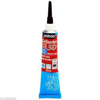 Peinture tissu Setacolor 3D - Brod'line Daim - Rouge Velours - 20 ml