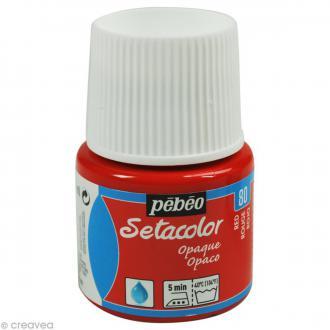 Peinture tissu Setacolor Pébéo - Opaque  - Rouge - 45 ml