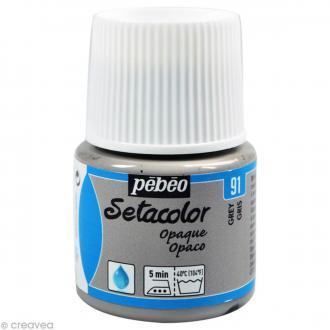 Peinture tissu Setacolor Pébéo - Opaque  - Gris - 45 ml