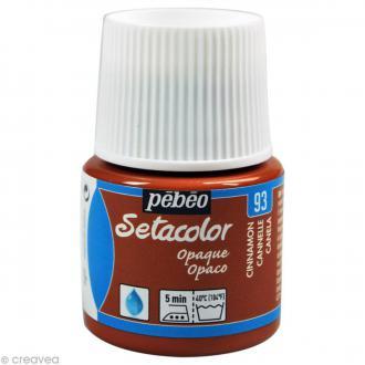 Peinture tissu Setacolor Pébéo - Opaque - Cannelle - 45 ml