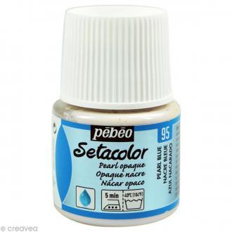 Peinture tissu Setacolor Pébéo - Nacré Opaque - Bleu - 45 ml