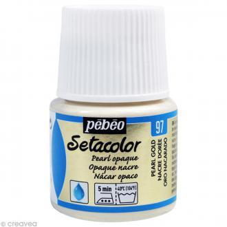 Peinture tissu Setacolor Pébéo - Nacré Opaque - Doré - 45 ml