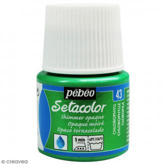 Peinture tissu Setacolor Pébéo - Moiré Opaque - Chlorophylle - 45 ml