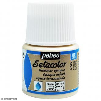 Peinture tissu Setacolor Pébéo - Moiré Opaque - Ivoire - 45 ml