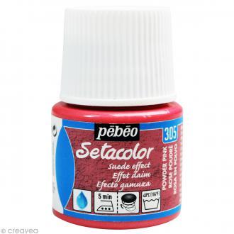 Peinture tissu Setacolor Pébéo - Effet Daim Opaque - Rose Poudre - 45 ml