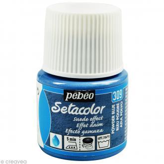 Peinture tissu Setacolor Pébéo - Effet Daim Opaque - Bleu Poudre - 45 ml