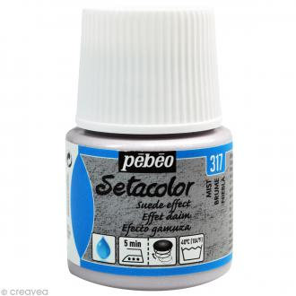 Peinture tissu Setacolor Pébéo - Effet Daim Opaque - Brume - 45 ml