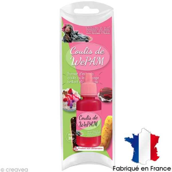 Faux coulis WePAM - Effet Fraise - 20 ml - Photo n°1