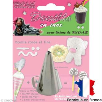 Douille inox Ronde et fine pour fausse chantilly WePAM