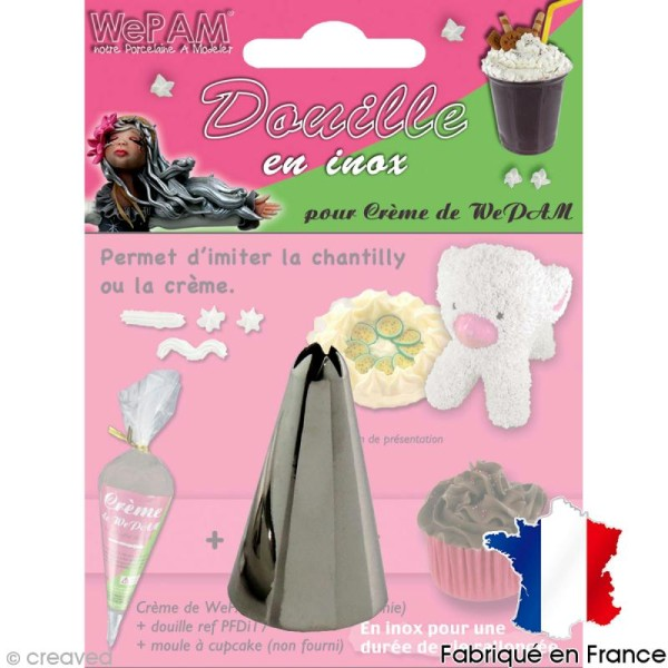 Douille inox Imitation chantilly pour fausse chantilly WePAM - Photo n°1