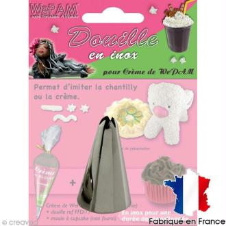 Douille inox Imitation chantilly pour fausse chantilly WePAM