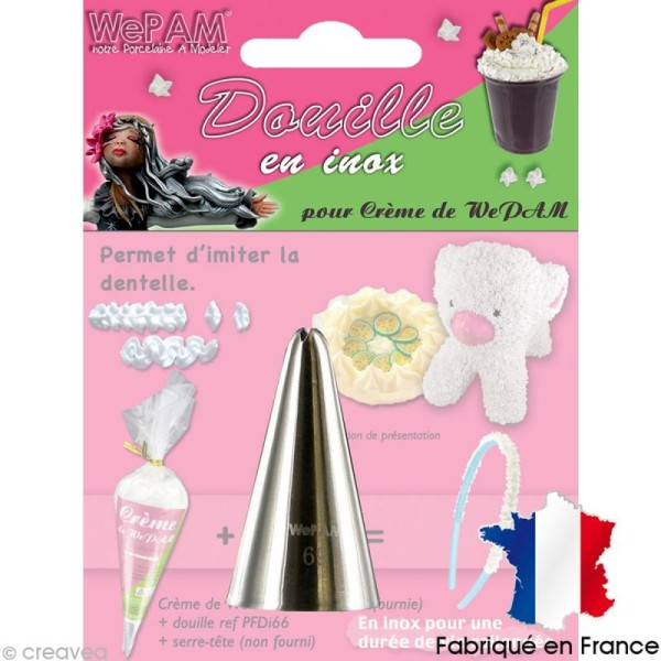 Douille inox Imitation dentelle pour fausse chantilly WePAM - Photo n°1