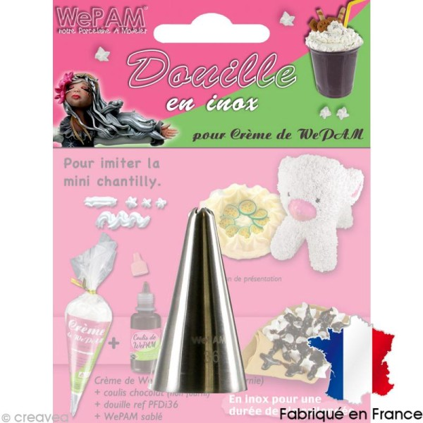 Douille inox Imitation mini-chantilly pour fausse chantilly WePAM - Photo n°1