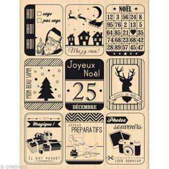 Tampon Noël December Daily - Neuf étiquettes de noël - 10 x 13 cm