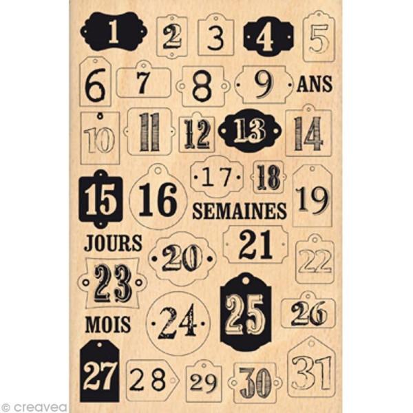 Tampon Noël December Daily - Jours de décembre - 10 x 15 cm - Photo n°1