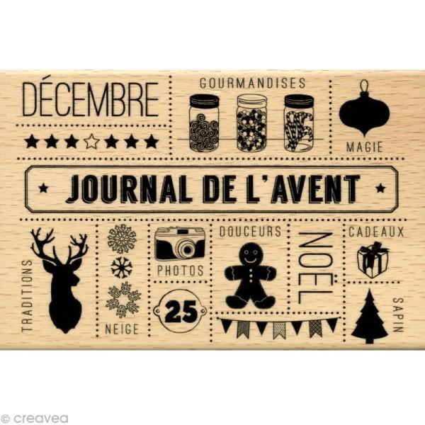 Tampon Noël December Daily - Journal de l'avent - 10 x 15 cm - Photo n°1
