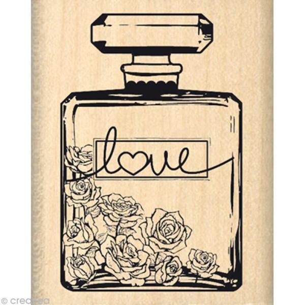 Tampon Shabby - Bouteille de parfum 5 x 4 cm - Photo n°1