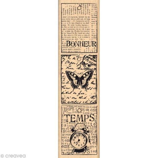 Tampon Shabby - Petites étiquettes vintages 15 x 4 cm - Photo n°1