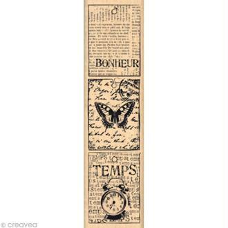 Tampon Shabby - Petites étiquettes vintages 15 x 4 cm