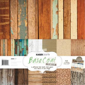 Papier scrap KaiserCraft - Base Coat 3 - 12 feuilles 30,5 x 30,5 cm Recto / Verso