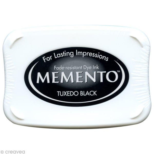 Encreur Memento rectangle - Tuxedo black (noir) - Photo n°1