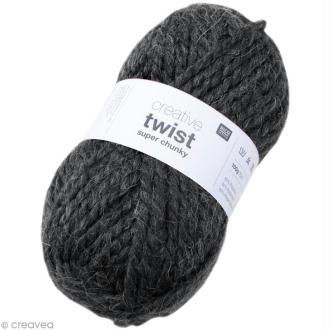 Laine Rico Design - Creative super twist chunky - Gris anthracite - 100 gr