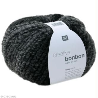 Laine Rico Design - Creative bonbon super chunky - Gris anthracite - 100 gr