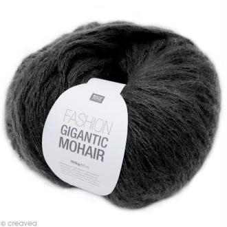 Laine Rico Design - Fashion gigantic mohair - Noir - 100 gr