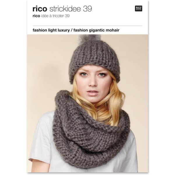 Livre Idées à tricoter n°39 - Fashion gigantic mohair - Photo n°1