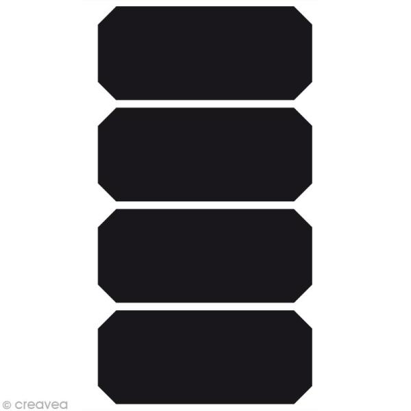 Stickers ardoise - Etiquette x 4 - Photo n°1