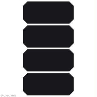 Stickers ardoise - Etiquette x 4