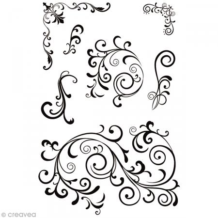 Tampon clear Rico Design - Fioritures - Planche 10 x 18,5 cm - Rico Design