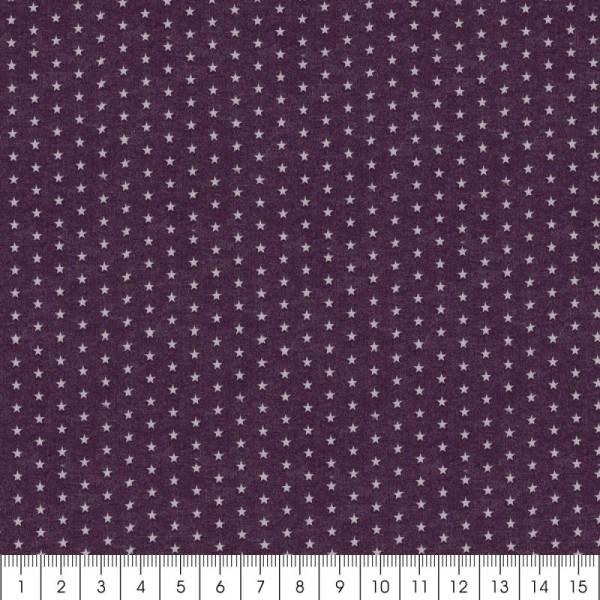 Tissu Frou Frou Prune délicate - Etoile (106) - A la coupe par 10 cm (sur mesure) - Photo n°3