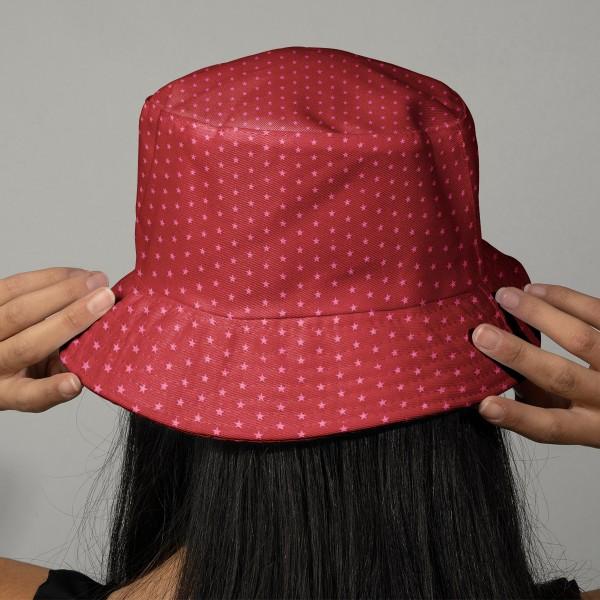 Tissu Frou Frou Rubis éclatant - Etoile (108) - A la coupe par 10 cm (sur mesure) - Photo n°2