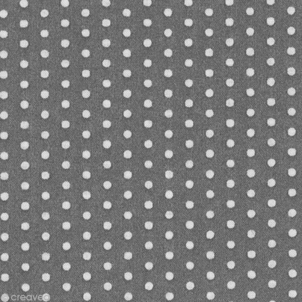 Tissu Frou Frou Ciel d'orage - Pois (202) - A la coupe par 10 cm (sur mesure) - Photo n°1