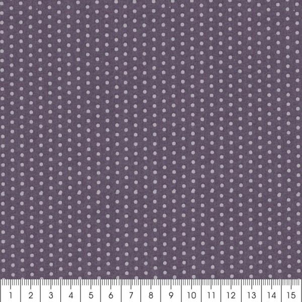 Tissu Frou Frou Violet sage - Pois (204) - A la coupe par 10 cm (sur mesure) - Photo n°3