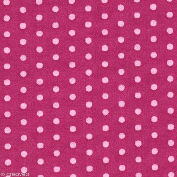 Tissu Frou Frou Camélia - Pois (207) - A la coupe par 10 cm (sur mesure) - Photo n°1