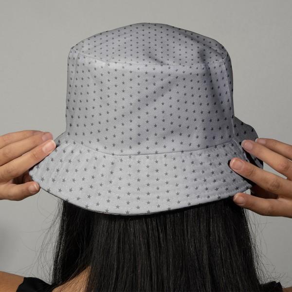 Tissu Frou Frou Taupe - Etoilé (301) - A la coupe par 10 cm (sur mesure) - Photo n°2