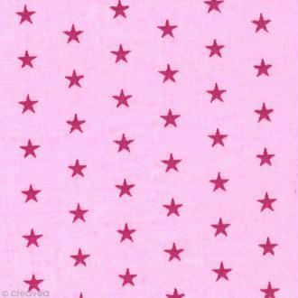 Tissu Frou Frou Camélia - Etoilé (307) - A la coupe par 10 cm (sur mesure)