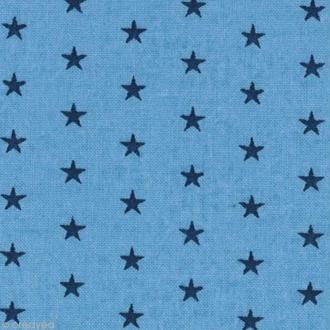 Tissu Frou Frou Bleu intense - Etoilé (310) - A la coupe par 10 cm (sur mesure)