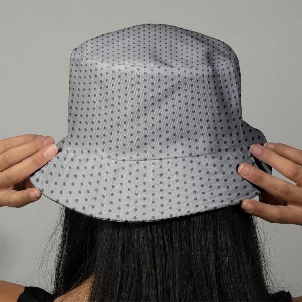 Tissu Frou Frou Taupe - Points (401) - A la coupe par 10 cm (sur mesure) - Photo n°3