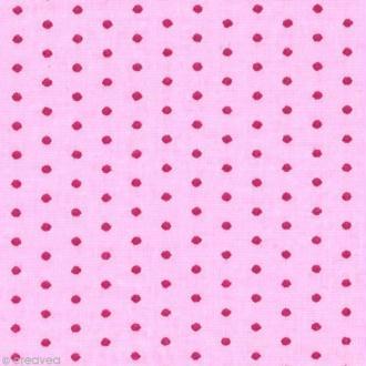 Tissu Frou Frou Camélia - Points (407) - A la coupe par 10 cm (sur mesure)