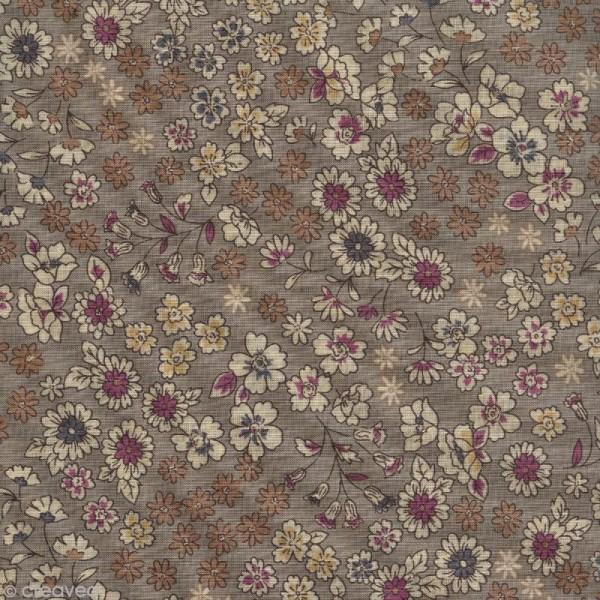 Tissu Frou Frou fleuri n°02 - A la coupe par 10 cm (sur mesure) - Photo n°1