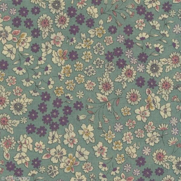 Tissu Frou Frou fleuri n°05 - A la coupe par 10 cm (sur mesure) - Photo n°1
