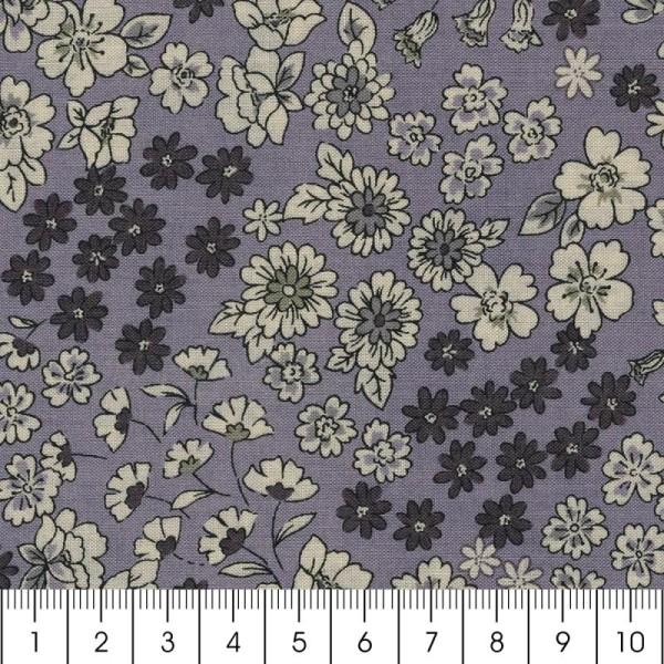 Tissu Frou Frou fleuri n°06 - A la coupe par 10 cm (sur mesure) - Photo n°3