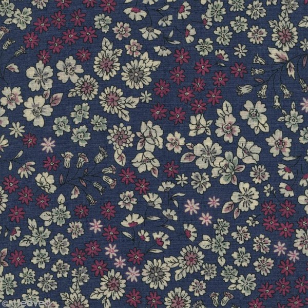 Tissu Frou Frou fleuri n°07 - A la coupe par 10 cm (sur mesure) - Photo n°1