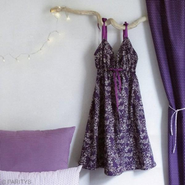 Tissu Frou Frou fleuri n°08 - A la coupe par 10 cm (sur mesure) - Photo n°3