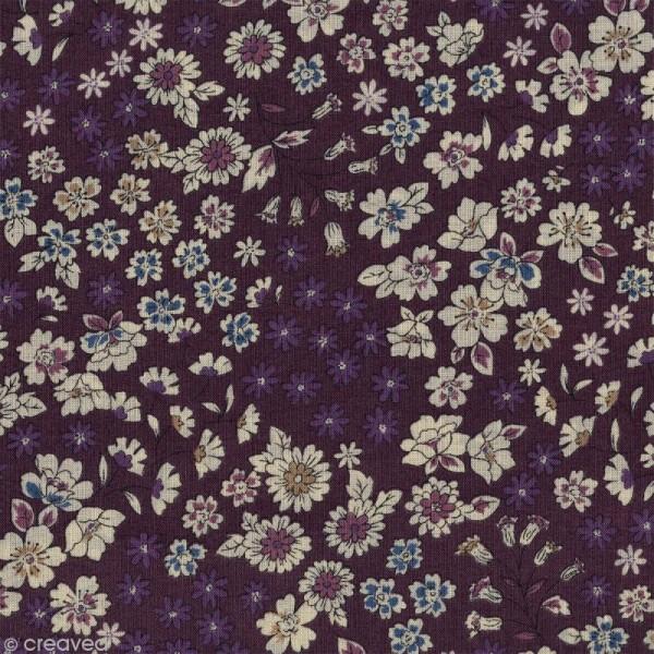 Tissu Frou Frou fleuri n°08 - A la coupe par 10 cm (sur mesure) - Photo n°1